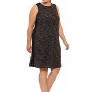 NWT Plus Size Xersion Workout Dress Charcoal 3X